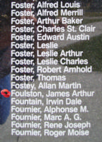 Memorial – Flying Officer James Arthur Foulston is also commemorated on the Bomber Command Memorial Wall in Nanton, AB … photo courtesy of Marg Liessens