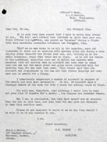 Letter – Letter from Squadron Leader to Mrs. Patton.  LAC, Ottawa