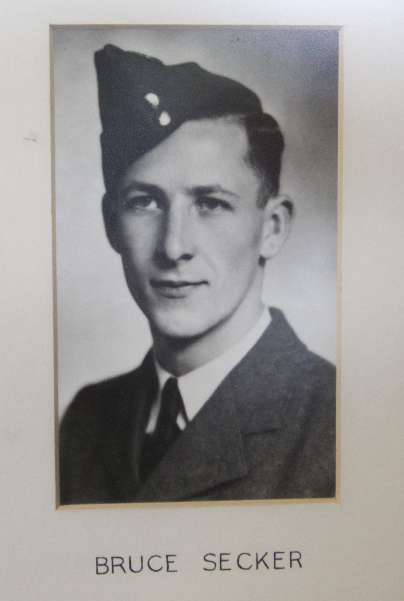 Photo of BRUCE WALTER SECKER – In memory of the students from the Vaughan Road Collegiate Institute  (Toronto) who went away to war and did not come home. Submitted for the project, Operation Picture Me
