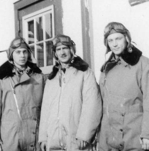 Group Photo – Photo of Charles Clarke Todhunter ( far right ) with air crew.