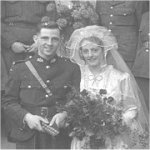 Photo of George Pollard – Photo taken 8th Oct 1943 Walton Liverpool England,  George Pollard Best Man at his friends wedding,  The Groom my brother in law was also k.i.a  during the battle for Caen.             Lest we forget