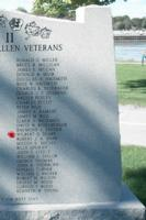 Memorial – Trooper Wilbert Gordon Sears is also commemorated on the WWII Memorial in Orillia, ON … photo courtesy of Marg Liessens