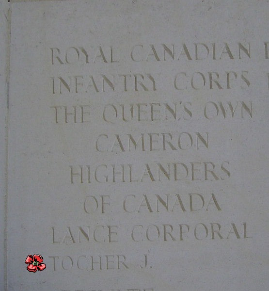 Inscription – Inscription on the Bayeux Memorial - August 2012