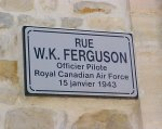 Street named after William Ferguson – William Ferguson is buried in a pretty little cemetery, St. Martin-des-entrées (St. Germain) Cemetery, in a small town in France.  The road leading to the cemetery was named after him.
