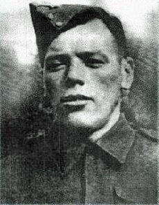 Photo of Arthur Lanteigne – Arthur Lanteigne whose mother was Canada's Silver Cross Mother in 1962. His brothers, Jean-Baptiste and Phillipe Joseph were also killed in WWII.