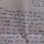 """Letter – Metro's last letter to my Father Joseph (his brother). """"The war will be over in a couple of weeks, I hope.""""  Two weeks to the day, Metro was killed September 20, 1944."""