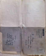 Envelope – The air mail letters are a 4-fold, this is the back addressed