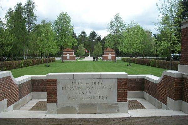 Entrance – Bergen-op-Zoom Canadian War Cemetery - May 2015 … Photo courtesy of Marg Liessens