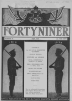 Fortyniner magazine – From the Loyal Edmonton Regimental magazine the Fortyniner.  Submitted for the project, Operation Picture Me