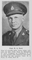Photo of ROBERT ALLEN SCOTT – From the Loyal Edmonton Regimental magazine the Fortyniner.  Submitted for the project, Operation Picture Me