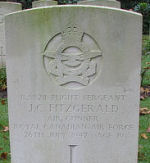 Grave Marker – Photo courtesy of Frans van Cappellen, Putten, The Netherlands Stirling W-7576 was airborne 2340 25 Jul 42 from Wyton. Shot down by a night-fighter and crashed 0132 at Horst (Limburg), 12 km NW of Venlo, Holland, where those killed were first buried. They have been subsequently been re-interred in the Jonkerbos War Cemetery.  Also killed was the Canadian pilot, P/O W.A.Shoemaker DFC, and RAF Sgt. P. D. Byrne.   Four crew members were taken PoW:  Sgt. D. L. Evans, RCAF, and RAF Sgts H.A.Robinson,  R.J.Fletcher and G.D.G.Muir. (Source:  //lostbombers.co.uk)