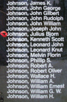Memorial – Sergeant Julius Bjorn Johnson is also commemorated on the Bomber Command Memorial Wall in Nanton, AB … photo courtesy of Marg Liessens