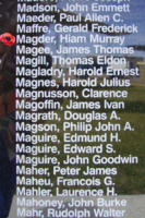 Memorial – Flight Sergeant Hiam Murray Magder is also commemorated on the Bomber Command Memorial Wall in Nanton, AB … photo courtesy of Marg Liessens