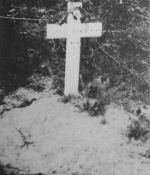 Original Grave Marker – Picture of Hank Byrd's temporary burial place.