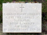 Grave Marker – Grave of C.B. Fetherstonhaugh at the Vredenhof cemetery on the isle of Schiermonnikoog ( the Netherlands) details of crash: http://aviation-safety.net/wikibase/wiki.php?id=52386