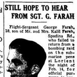 """Newspaper Clipping – TORONTO STAR """"Pages of the Past"""" online 1943, Sept 16"""