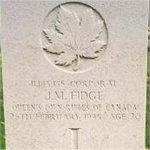 Grave Marker – This photo of Cpl Fidge's gravemarker was taken in June 2003.