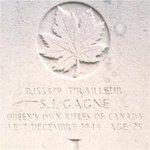 Grave Marker – This photo of Rfn Gagne's gravemarker was taken in June 2003.