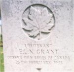 Grave marker – This photo of Lieut Grant's gravemarker at Groesbeek Cemetery was taken in June 2003.