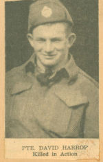 Photo of DAVID EDWIN HARROP – newspaper photo KIA