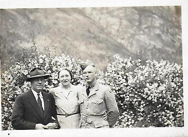 Photo of JAMES EARL HOOVER – Jim, with mother and father