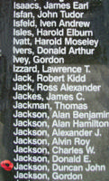 Memorial – Flying Officer Duncan John Jackson is also commemorated on the Bomber Command Memorial Wall in Nanton, AB … photo courtesy of Marg Liessens
