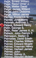 Memorial – Sergeant Edward Henry Palava is commemorated on the Bomber Command Memorial Wall in Nanton, AB … photo courtesy of Marg Liessens