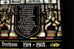 Memorial stained Glass – Saint Alban Anglican Church, Prince Albert, Saskatchewan