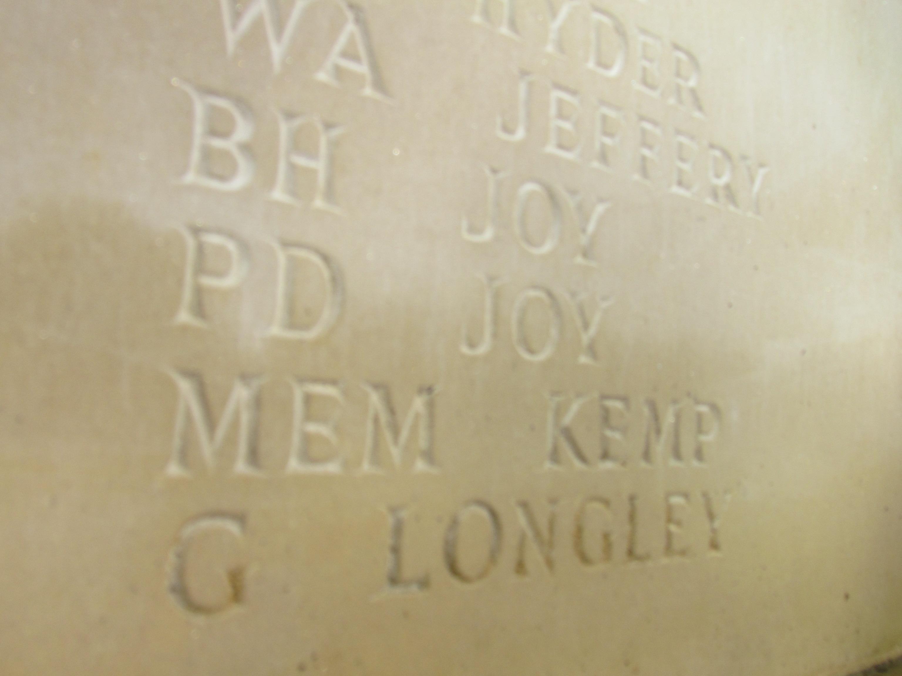 Inscription – Rotherfield Parish War Memorial Service of Dedication 20th October 2018