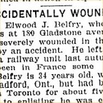 Press Clipping – From the Toronto Star for 29 October 1917.