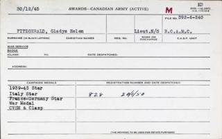 Medal Card – Submitted for the project, Operation Picture Me