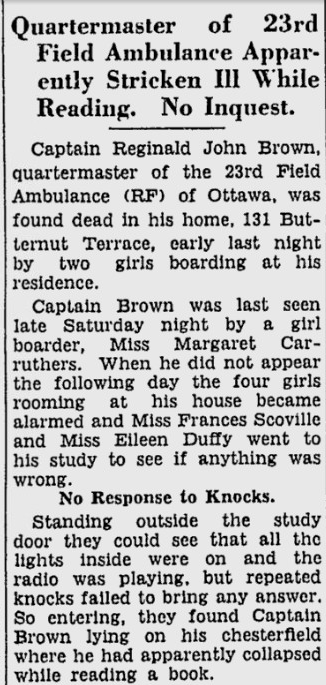 Newspaper clipping – From the Ottawa Citizen. Submitted for the project, Operation: Picture Me