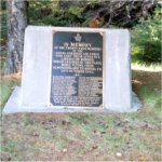 Memorial Plaque on Black Mountain – A picture of the memorial plaque erected at the site of the crash that took the lives of 24 Canadians.