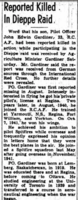 Newspaper Clipping – Remembered on the pages of the Ottawa Journal. Submitted for the project, Operation Picture Me