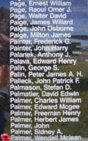 Memorial – Flying Officer Wendell McLean Palmer is commemorated on the Bomber Command Memorial Wall in Nanton, AB … photo courtesy of Marg Liessens