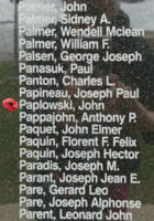 Memorial – Warrant Officer Class II John Paplowski is also commemorated on the Bomber Command Memorial Wall in Nanton, AB … photo courtesy of Marg Liessens