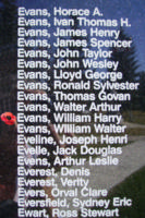 Memorial – Sergeant William Harry Evans is also commemorated on the Bomber Command Memorial Wall in Nanton, AB … photo courtesy of Marg Liessens