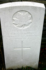 Grave Marker – A photograph of the headstone at the Orchard Dump Cemetery. May he rest in peace.(J.Stephens)
