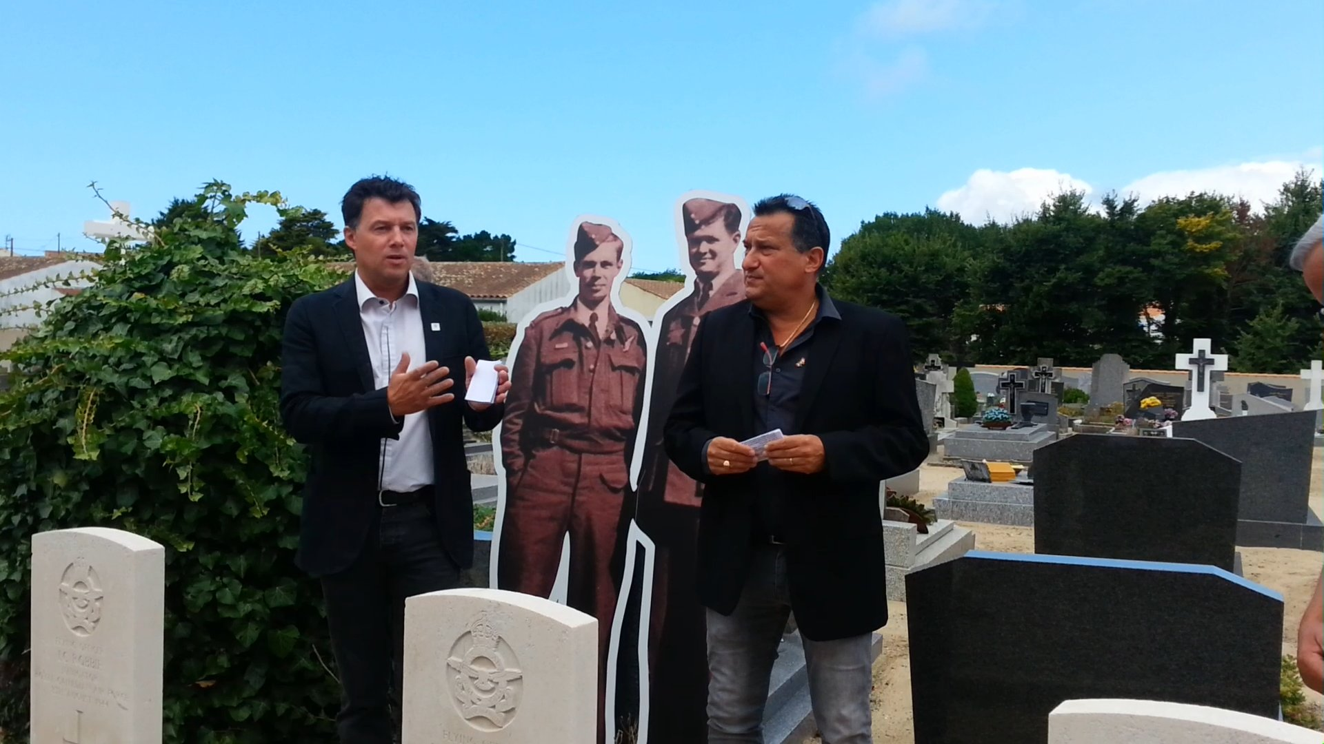Photos of the commemorative ceremony on August 8, 2015, in Barbâtre, Île de Noirmoutier, France.