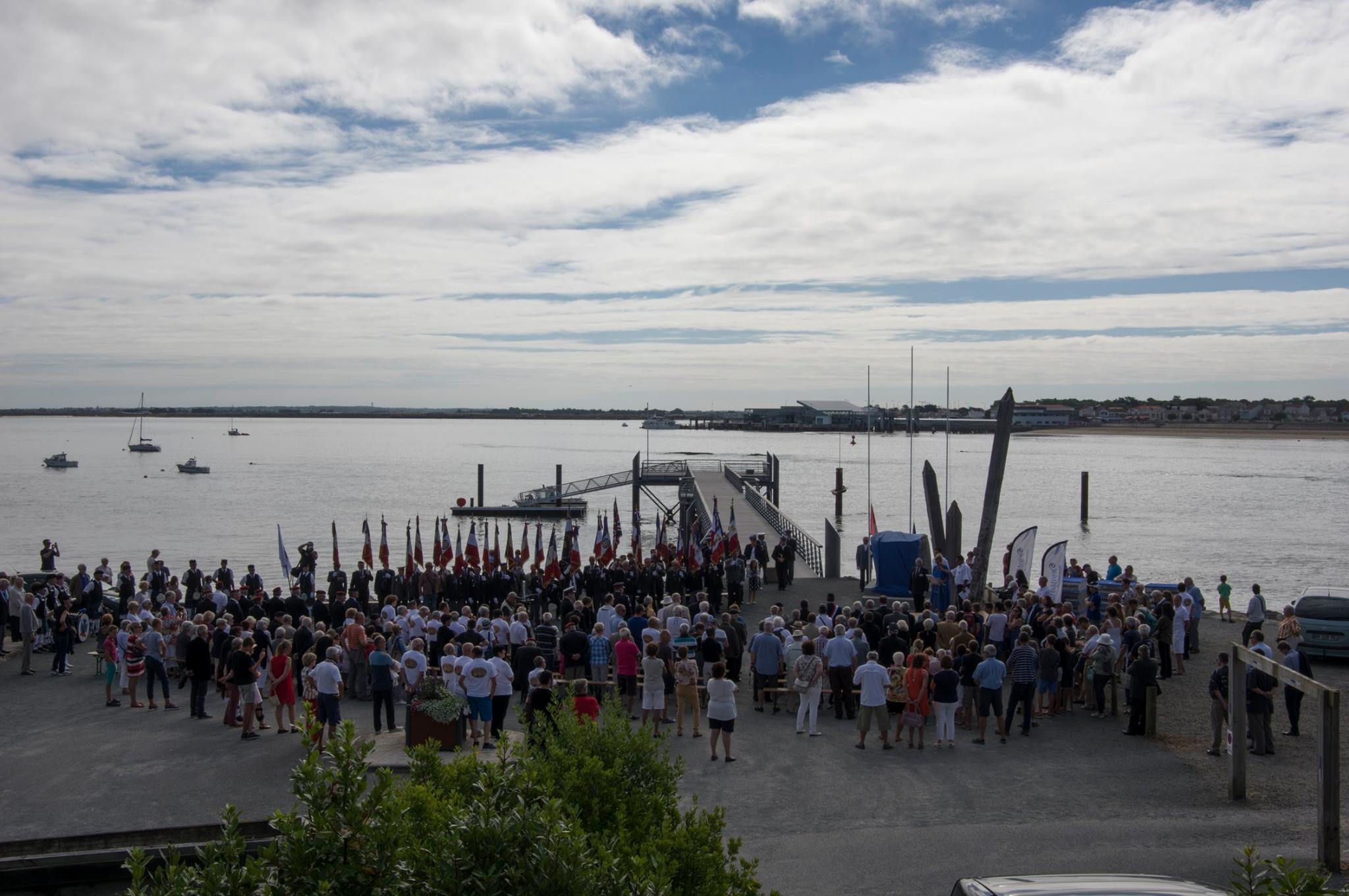 Photo of the commemorative ceremony on August 6, 2016, in Barbâtre, Île de Noirmoutier, France.