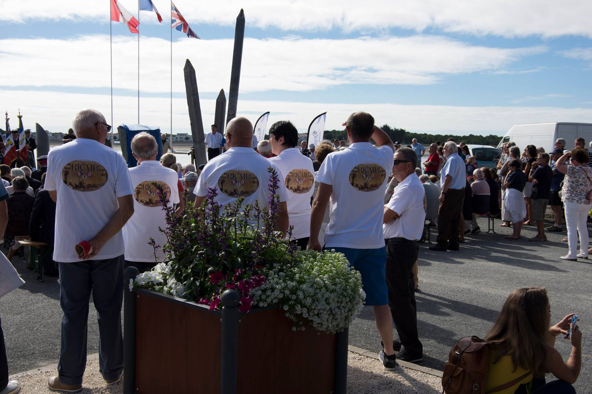 Ceremony – Photo of the commemorative ceremony on August 6, 2016, in Barbâtre, Île de Noirmoutier, France.