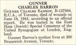 Obituary – Charles Barron is honoured on page 6 of the memorial book,