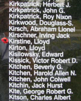 Memorial – Warrant Officer Class II Lloyd Kirstine is also commemorated on the Bomber Command Memorial Wall in Nanton, AB … photo courtesy of Marg Liessens