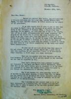 Letter – Letter written to Mrs. Breen from S/L Reid, Library and Archives Canada, Ottawa.