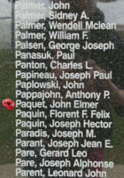 Memorial – Flight Sergeant John Elmer Paquet is also commemorated on the Bomber Command Memorial Wall in Nanton, AB … photo courtesy of Marg Liessens