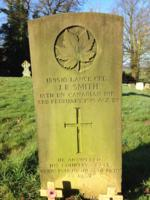 Grave Marker – A lone Canadian warrior resting eternally at the feet of his uncle Henry Cooper's grave
