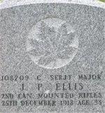 Gravemarker – Gravestone of James Paterson ELLIS in Kirkcaldy (Bennochy Cemetery)Fifeshire, Scotland.