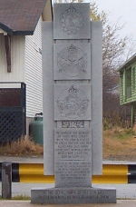 Monument – Monument found in Baie Verte, Newfoundland commemorating those who served in the first and second world wars.