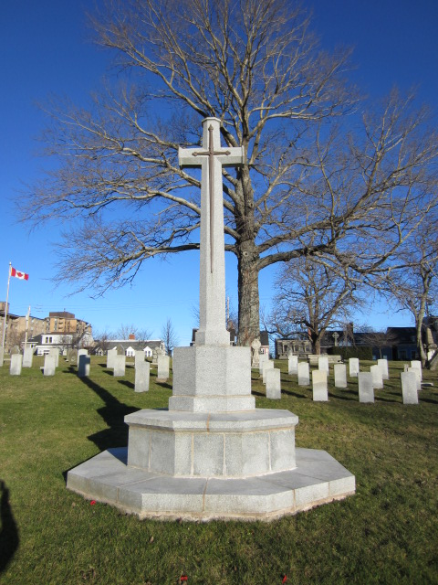 Memorial – Cross of Sacrifice at Fort Massey Cemetery, Halifax, Nova Scotia, Canada.