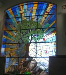 Memorial – Beechwood National Military Cemetery Hall of Colours Military Chaplains stained glass window